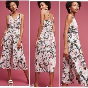 ANTHRO Tracy Reese Floral Gwyneth Jumpsuit Cropped